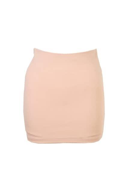 Skinny Empire Waist Nude Skirt