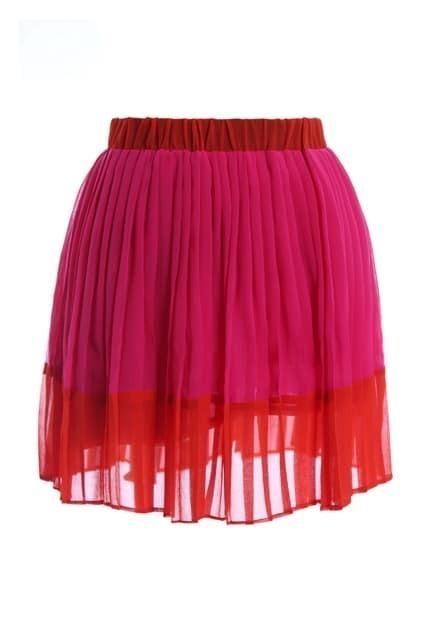 Elastic Wiast Bouffancy Pink Skirt