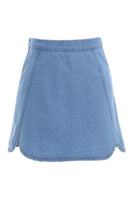 Cut Petal Skyblue Skirt