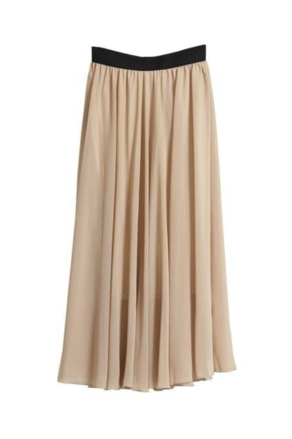 Oversized Apricot Chiffon Skirt