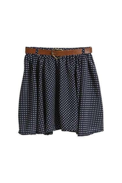 Dots Printed Blue Skirt