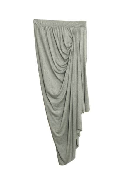 Grey Anomalous Pleated Skirt