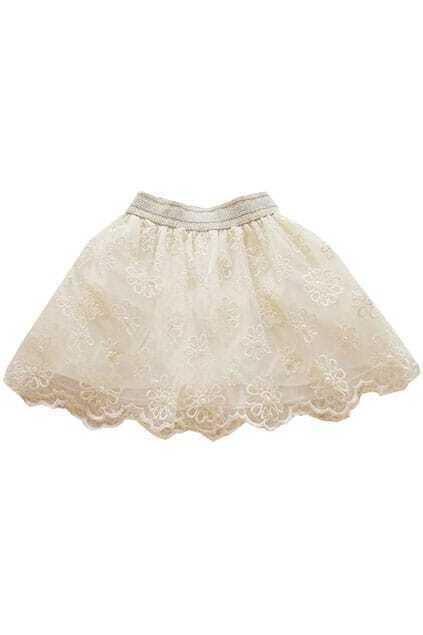 Retro Flower White Skirt