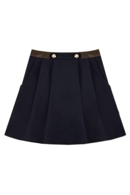 Chic Style Dark Blue Skirt