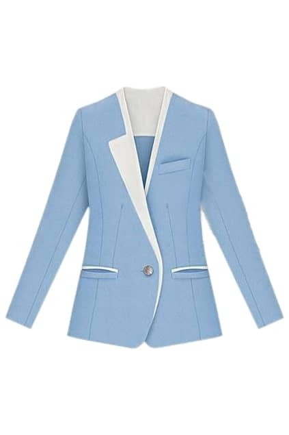 Color Block Blue Blazer