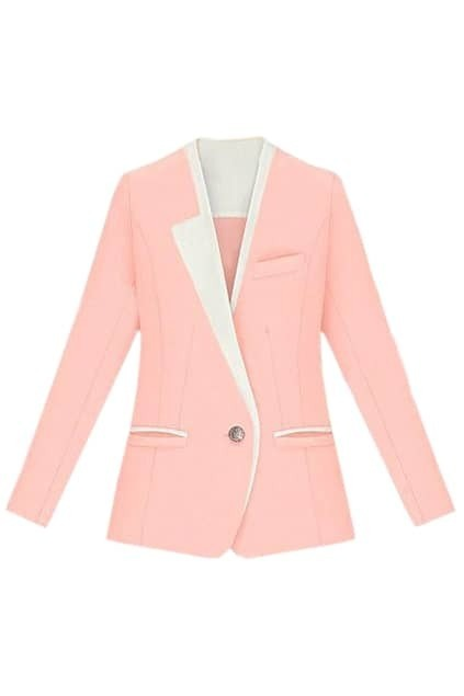 Color Block Pink Blazer