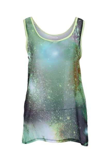 Light Weight Starry Green Vest