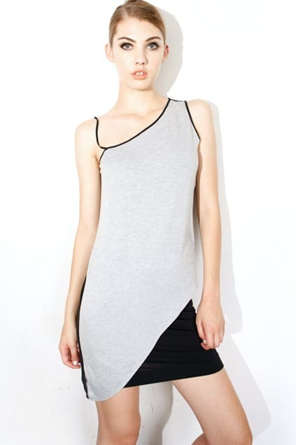 Dipped Hem Color Block Vest