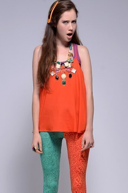 Pure Silk Orange Vest