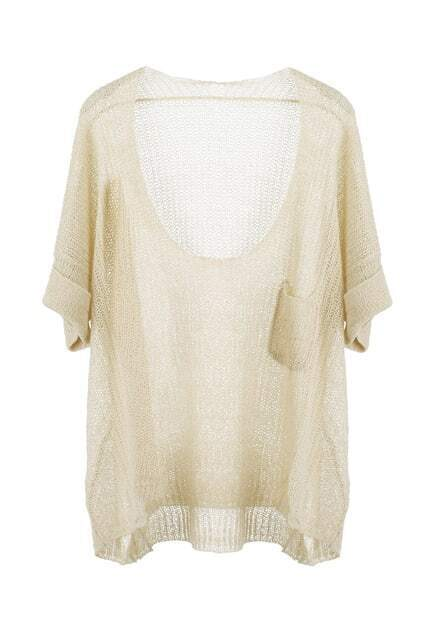 Fold-over Cuffs Knitted Jumper