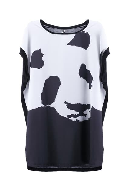 Panda Design Oversized T-shirt
