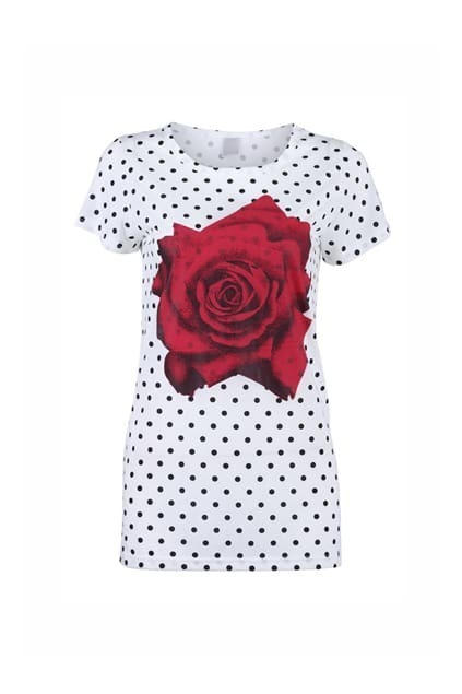 Fine Dots Rose T-shirt