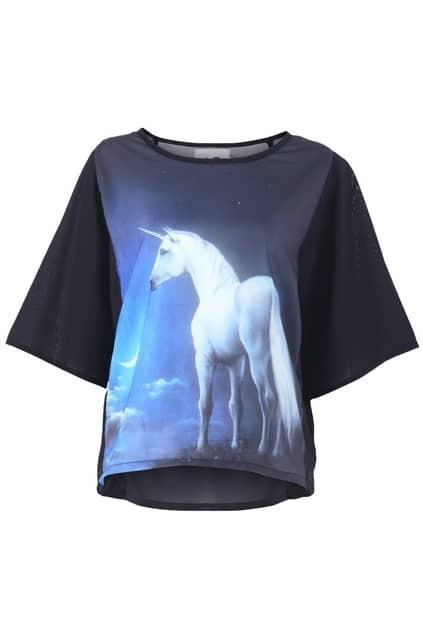 Horse Print Batwing T-shirt