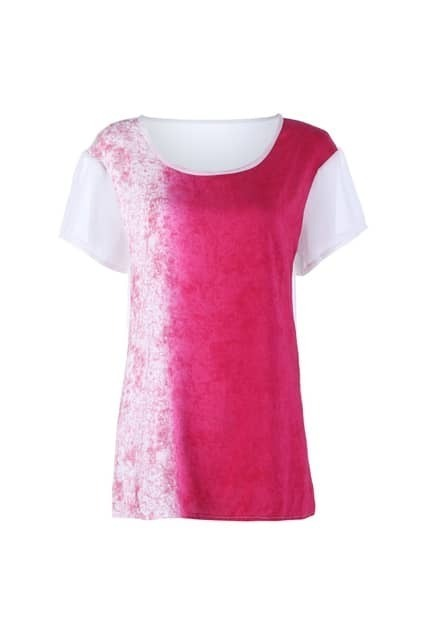 Sheer Back Tie-Dyed T-shirt