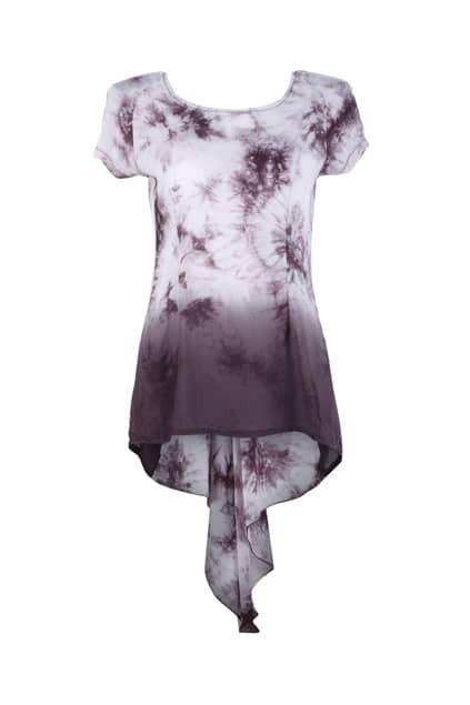 Dipped Hem Tie-dyed T-shirt