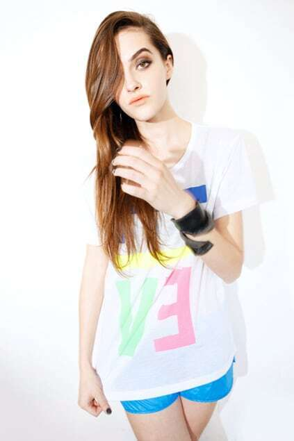 Colorful Letters Bright White T-shirt