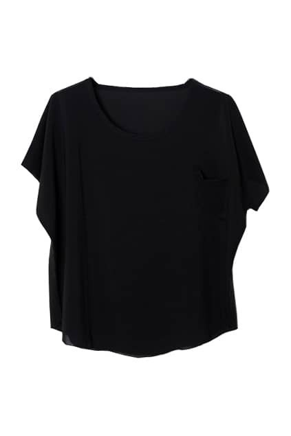 Pocket Front Black T-shirt