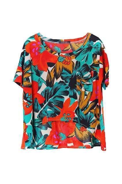 Multi-color Floral T-shirt