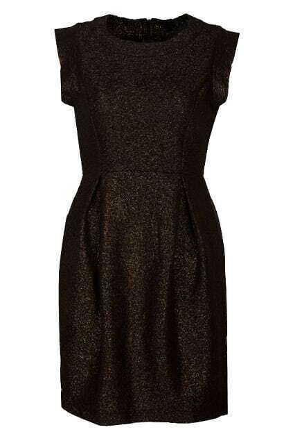 Slim Metallic Bronze Dress