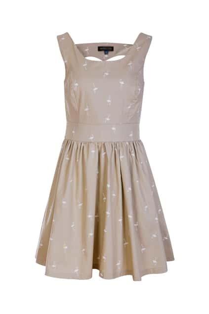 Retro Swan Print Dress