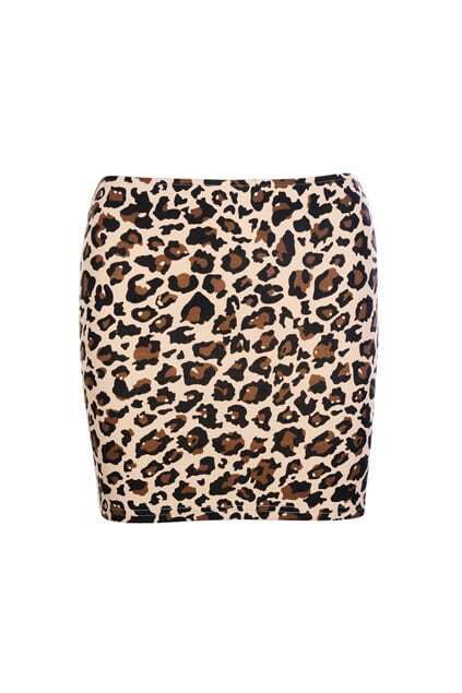 Slim Elastic Leopard Skirt