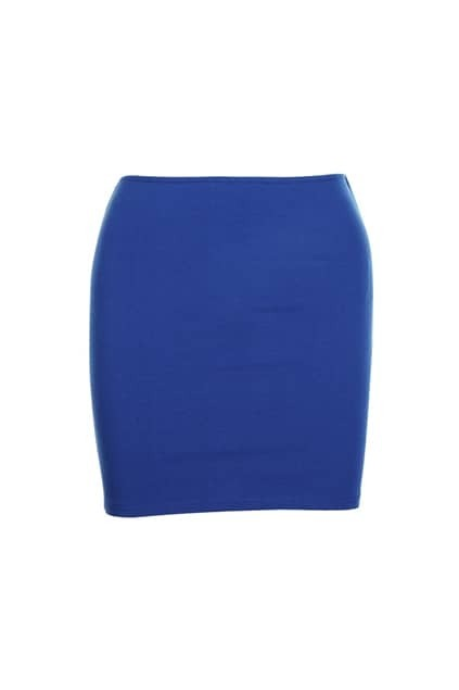 Slim Elastic Royalblue Skirt