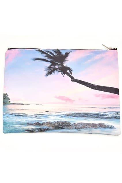 Beach Print Clutch