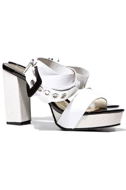 Platform Heeled Contrast Colour Sandals
