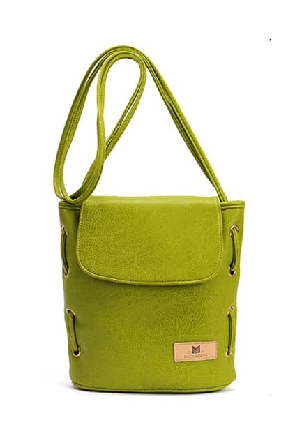 Retro Fluorescence-green Bucket Bag
