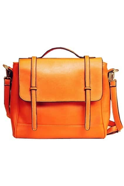 Retro Style Orange Briefcase