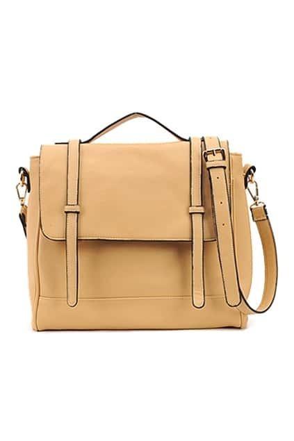 Retro Style Beige Briefcase