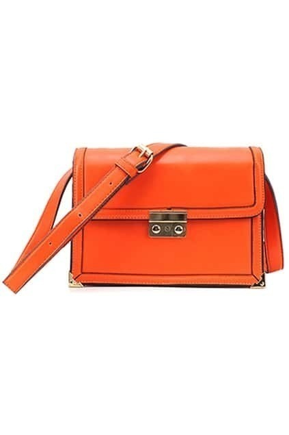 Retro Orange Satchel Bag