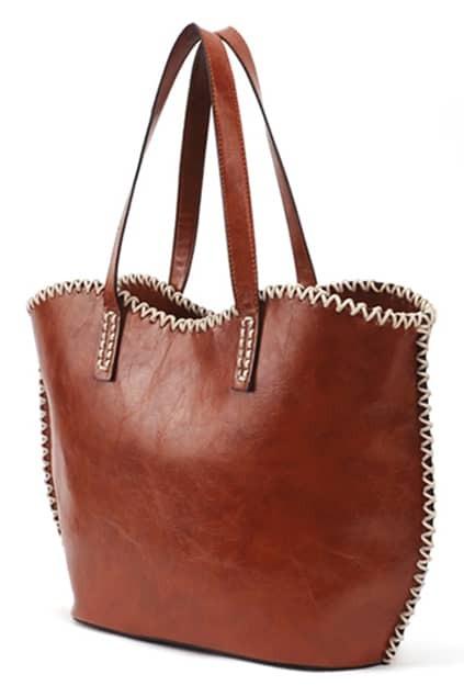 Leisure Style Brown Shoulder Bag