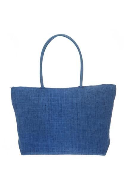 Oversized Blue Straw Bag