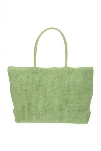 Oversized Mint Straw Bag