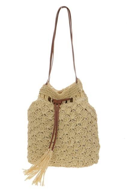 Single Shoulder Straw Bag