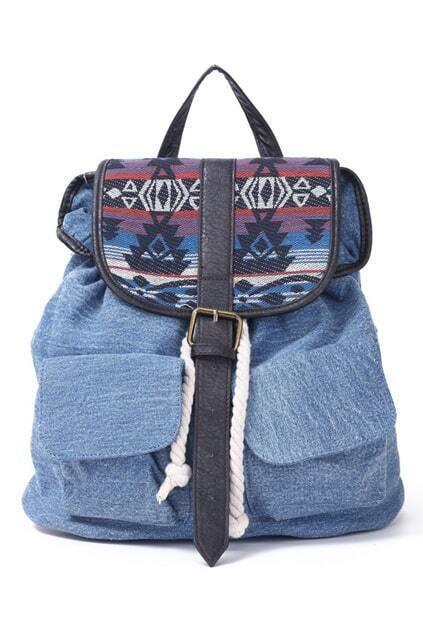 Classic Denim Backpack