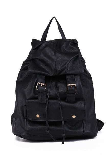 Brief Leather-look Backpack
