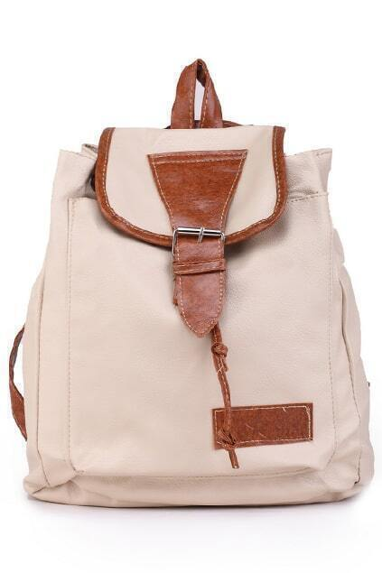 Color Block Apricot Backpack