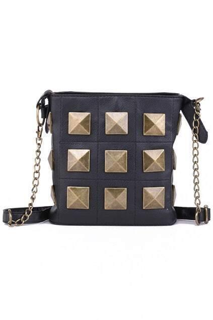 Rivets Embellished Handbag