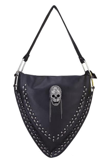 Skull Detailed Triangular Bag
