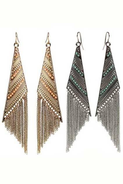 Bohemian Shape Tassel Earrings