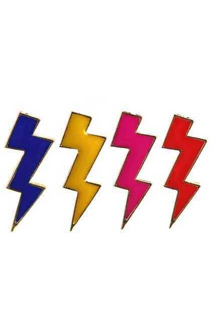 Neon Color Lightning Earrings