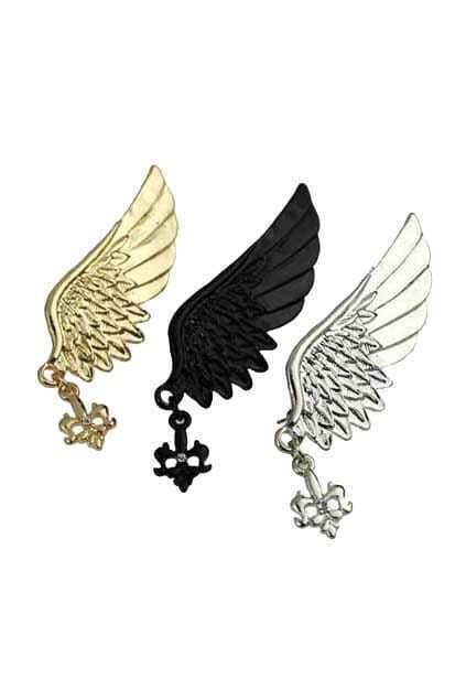 Single Angel Wing Earring