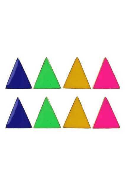 Neon Triangle Earrings Clip