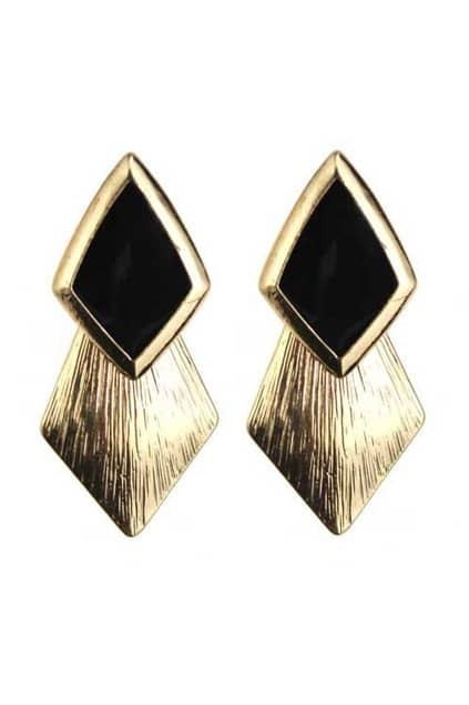 Neon Rhombus Golden Earrings