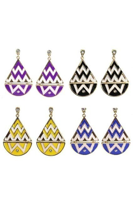 Color Contrast Water-drop Shape Earrings