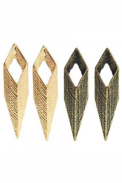 Stereo Rhombus Spike Earring