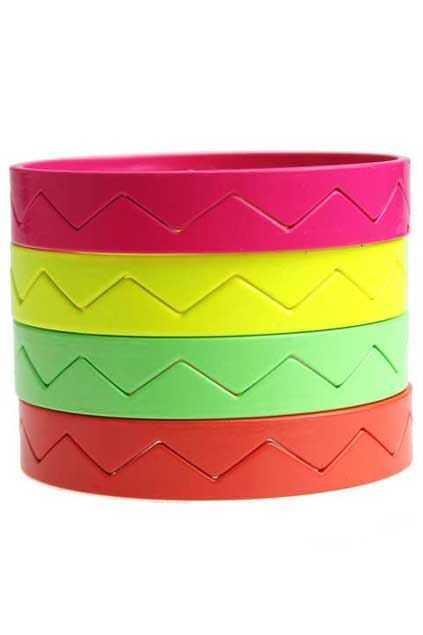 Neon Color Jag Bracelet