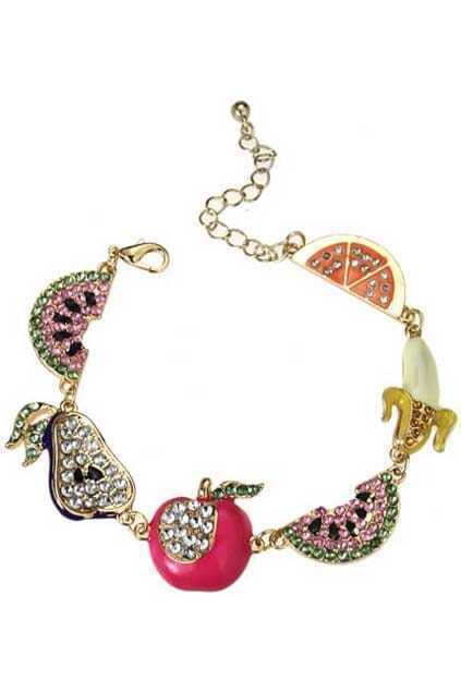 Crystals Emebllishment Fruit Bracelet
